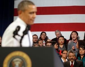 immigration Obama heckler deportation