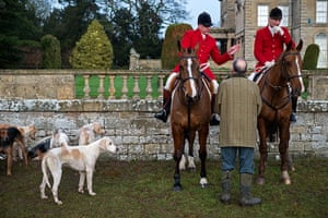 Boxing day hunt: The Quorn Hunt meeting at Prestwold Hall