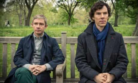 Martin Freeman and Benedict Cumberbatch as Dr John Watson and Sherlock Holmes