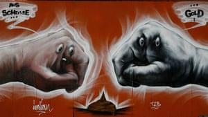 Graffiti: A graffiti by an artist known as 'Indian'