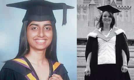Graduates Sharmin Shultan and Kirsten Bone