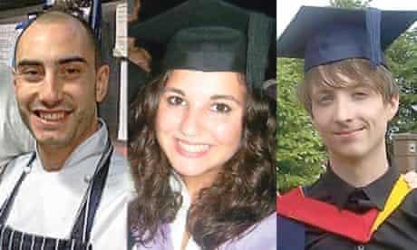 recent graduates Sam Elliott, who is now a chef; Sarah El-Sheika, a doctor; and Sam Felda, a teacher