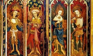 Painted rood screen panels