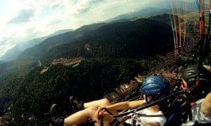 paragliding Romania