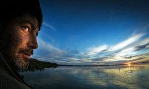 Danube delta fisherman