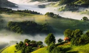 Holbav village, Romania