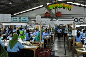Eyelashes: Workers at the PT Royal Korindah factory