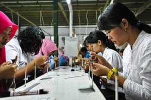 Eyelashes: Women at work in the PT Royal Korindah factory