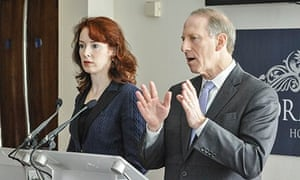 Chairs of the Northern Ireland talks, Richard Haass (right) and Meghan O'Sullivan