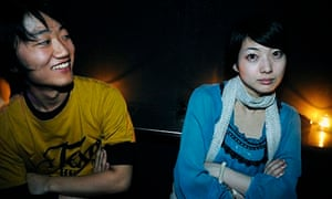 Young Japanese people in a nightclub