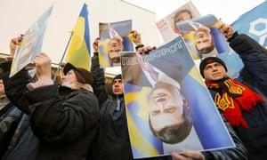 Protesters in Ukraine