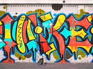 'Beijing Graffiti' by Liu Bolin in Beijing, China.