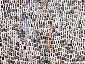 'Mobile Phones' by Liu Bolin in Beijing, China.