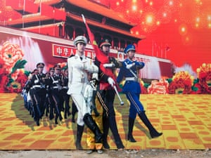 'Three Goddesses' by Liu Bolin in Beijing, China.