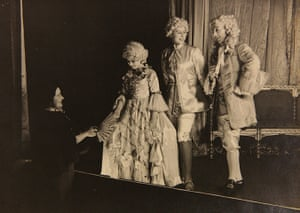 Royal pantomime: Queen Mother Margaret Elizabeth stage