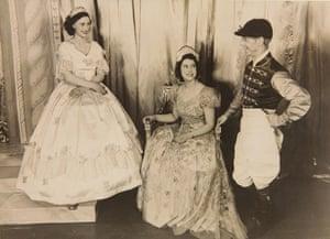 Royal pantomime: Elizabeth Margaret jockey