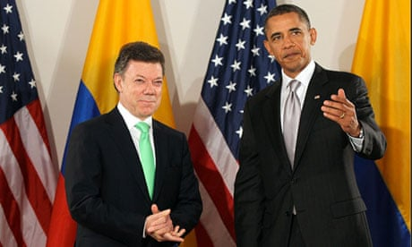 Obama Praises Us Colombia Trade Agreement During Santos Visit