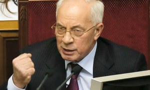 Ukraine's prime minister, Mykola Azarov
