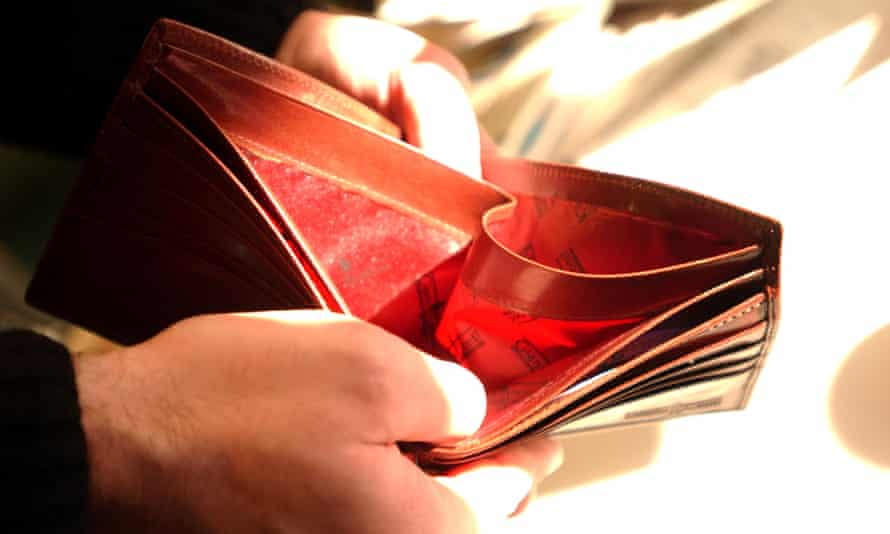 empty wallet low pay