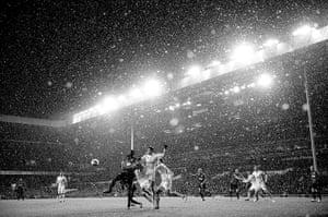 Tom Jenkins Pix of Year: Snow falls during the Spurs v Man Utd game