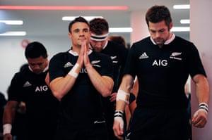 Tom Jenkins Pix of Year: Dan Carter seems to be praying before England v New Zealand