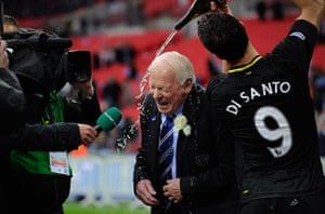 Tom Jenkins Pix of Year: Wigan chairman Dave Whelan gets doused in champagne