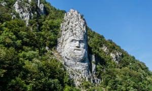 Decebalus statue, Romania
