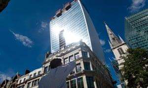 The Walkie Talkie building in London