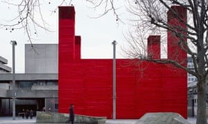 Half packing crate, half temple … The Shed at the National Theatre. Photograph: Helene Binet