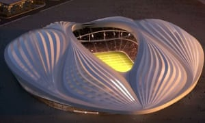 The Al Wakrah Stadium in Qatar.
