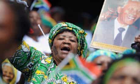 A woman mourns Nelson Mandela