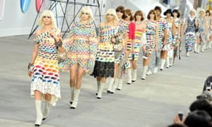 Say it loud: the Chanel show at Paris Fashion Week womenswear spring/summer 2014.