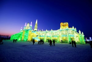 Night view of the ice and snow festival, Harbin, China