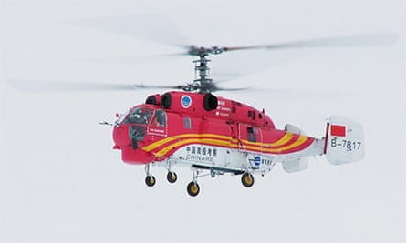 The Chinese helicopter that will airlift crew and  passengers from the Akademik Shokalskiy.