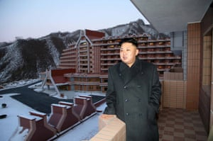 Kim Jong-un inspecting the Masik Pass hotel
