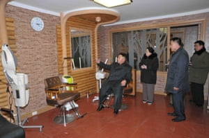 Kim Jong-Un relaxing in the Masik Pass Hotel.