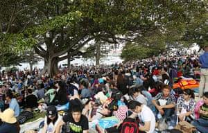 NYE in Australia: Crowds gather on Sydney Harbour