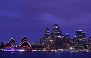 NYE in Australia: The sky darkens above Sydney Opera House