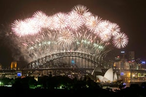 NYE in Australia: The display reaches its climax at the stroke of midnight