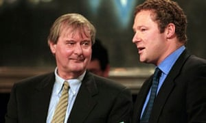 Fortune, left, with Rory Bremner in 2000.