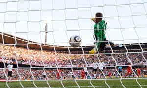 old players: Germany's goalkeeper Manuel Neuer eyes the ball