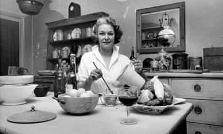 Elizabeth David shot in her kitchen in Halsey St Chelsea