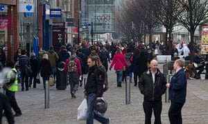 Manchester town centre shoppers