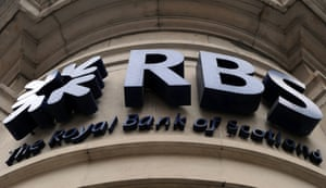 A Royal Bank of Scotland (RBS) branch in central London, Britain.