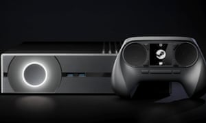 A computer-generated rendering of a Steam Machine