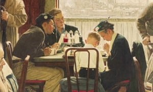 """Sotheby's shows the popular Norman Rockwell masterpiece """"Saying Grace,"""" which is heading for the auction block"""