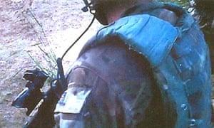 Footage from helmet-mounted camera of Royal Marine patrol in Afghanistan