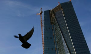 The construction site of the new ECB) headquarters in Frankfurt. Photo: Reuters/Kai Pfaffenbach