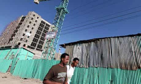 Ethiopia's capital Addis Ababa, office block construction
