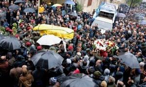 Hezbollah commander's funeral